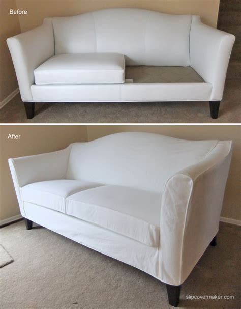 White Denim Slipcover For Ethan Allen Leather Sofa The White Sofa Cover