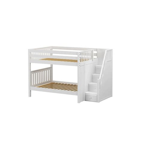 double over double bunk beds quasar full over full bunk bed with stairs solid