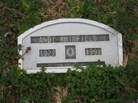 andy whitfield 1922 1993 find a grave memorial
