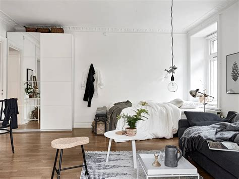 one room decordots cosy vibes in a small scandinavian style apartment