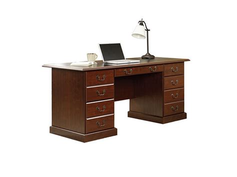 sauder 402159 heritage hill executive desk in classic