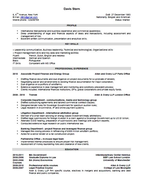 Exle Of A Combination Resume by The Combination Resume Template Format And Exles