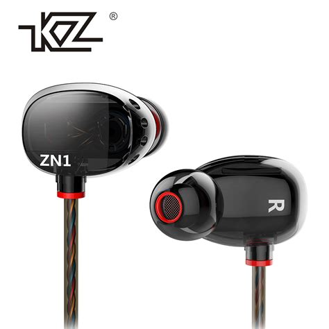 Earphone Bass 10mm Driver 1 kz zn1 mini dual driver headphones bass turbo wide sound field in ear earphone in