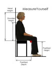 average height of seat popliteal point and seat measurements brigger furniture