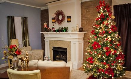 7.5 ft. lighted christmas trees | groupon