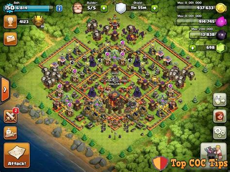 clash of clans th10 trophy layout 21 best clash of clans base designs images on pinterest