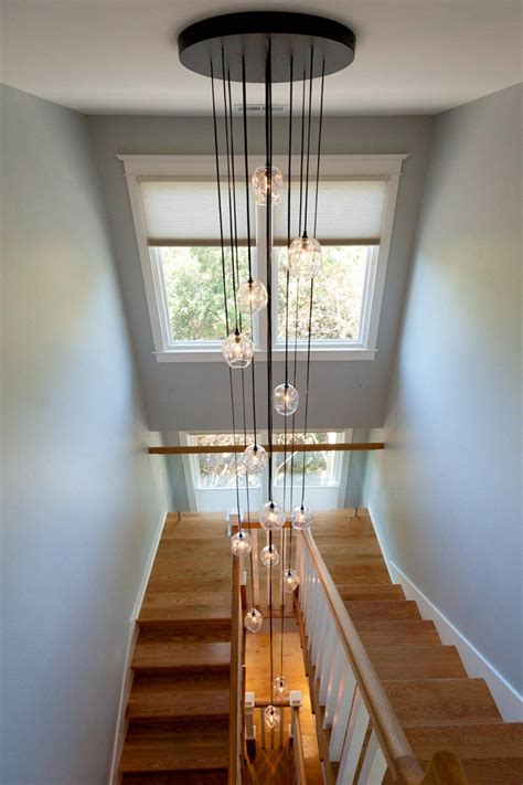 hallway stairs lighting contemporary house in ahmedabad 15 ideas of pendant lights stairwell