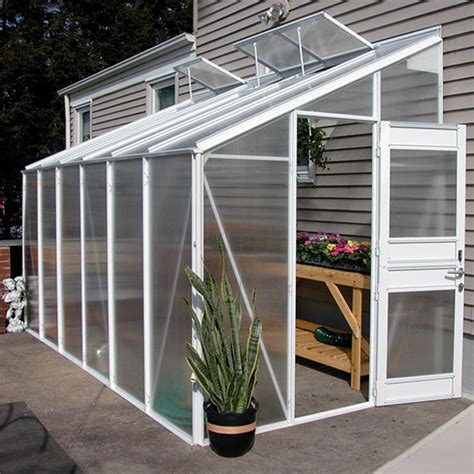 Greenhouse Garage by Growspan Estate Elite Attached Greenhouse 6 4 Quot W X 8 3 Quot H