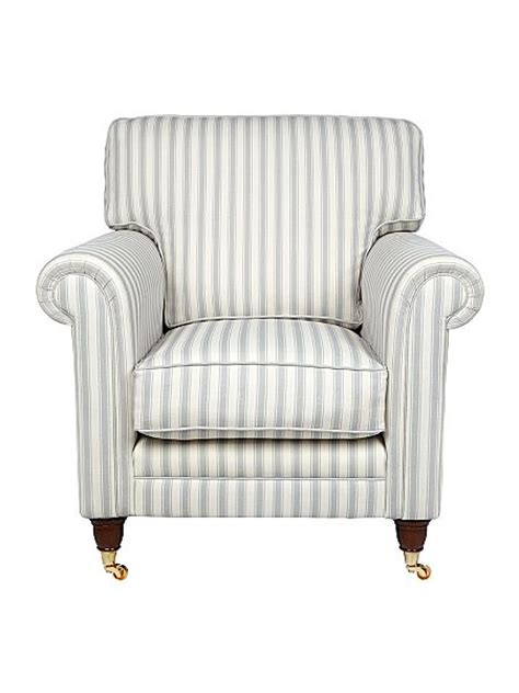 Grey Striped Armchair Redirect