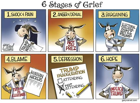 The Stages Of Grief Vacation Edition by Democrats Dealing With The Six Stages Of Grief