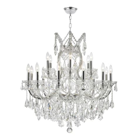 Minimalist Worldwide Lighting Maria Theresa 19 Light Chandelier For Home