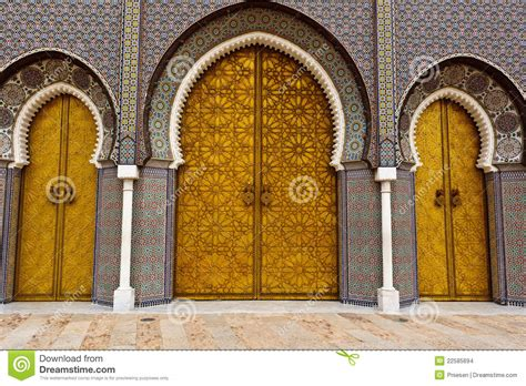 doors of the royal palace ornate doors to royal palace in fez stock images image
