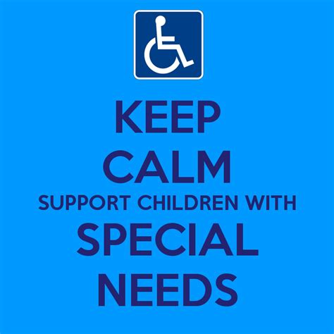 Needs Some Support by Keep Calm Support Children With Special Needs Poster