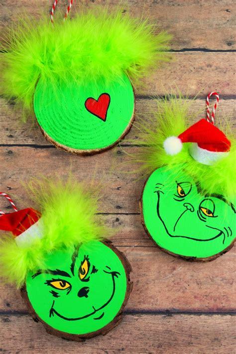 printable grinch ornaments wood slice grinch ornaments frugal mom eh