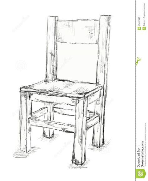 stuhl zeichnen stuhl stock abbildung illustration freizeit skizze