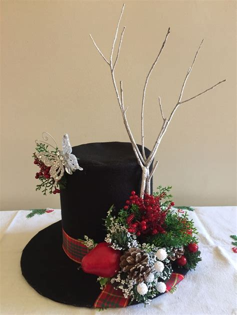 christmas hat floral 144 best tophats images on hats and crafts