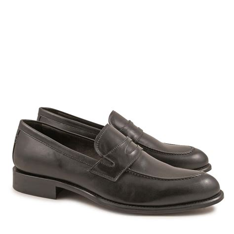 Handmade Loafers - handmade loafers for in black calf leather made