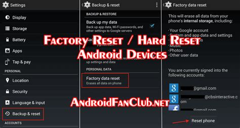reset android without recovery how to factory reset any samsung huawei phone or tablet