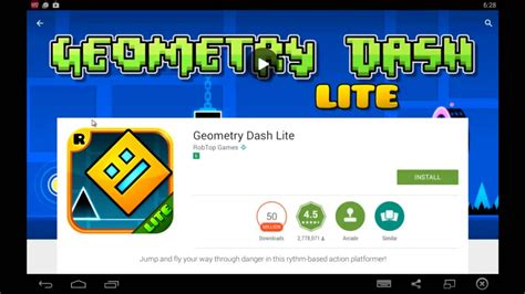how to download geometry dash full version for free pc play geometry dash lite on pc youtube