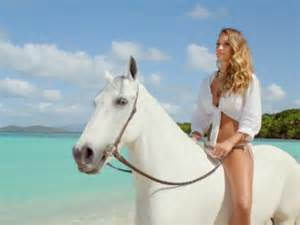 directv ditches rob lowe for hannah davis and a horse in