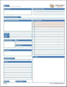 free daily planner template spreadsheetshoppe