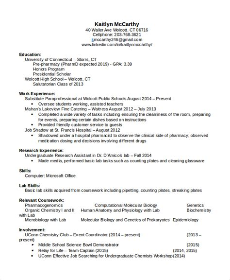 Resume Template Pharmacist by Pharmacist Resume Exle Retail Pharmacist Resume