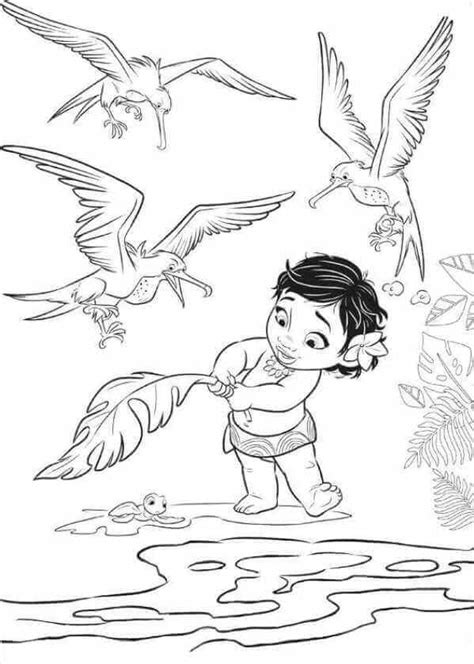 coloring pages moana free 35 printable moana coloring pages