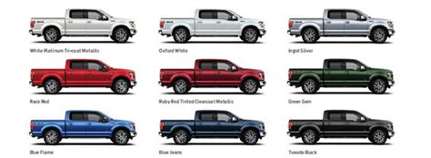 2015 f150 colors what are the 2015 ford f 150 exterior paint color options