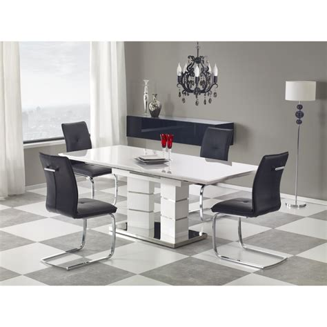 Table Salle A Manger Design Blanc Laque by Table 224 Manger Design Extensible Blanc Laqu 233 Atout