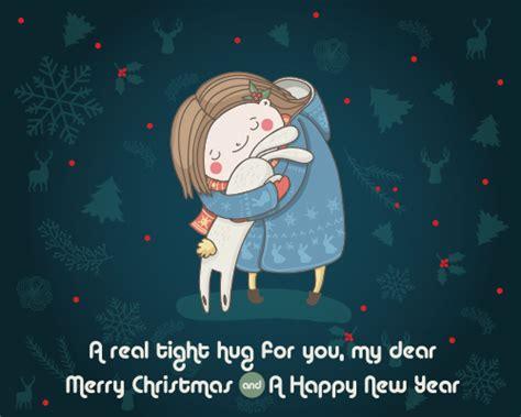 tight christmas hug  hugs ecards greeting cards
