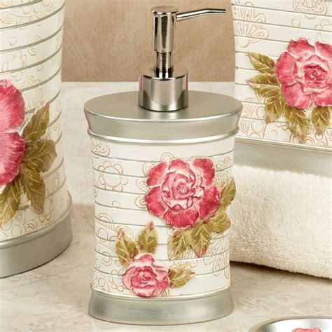 rose bathroom decor spring rose floral bath accessories roses bathroom