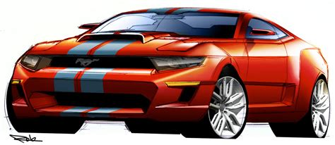mustang shelby design sketch car design