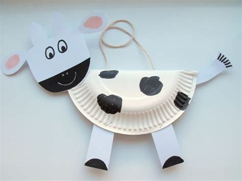 Cow Paper Plate Craft - cow paperplate crafts