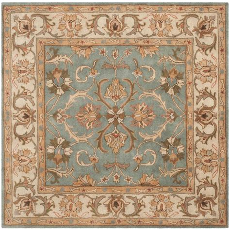 8 x 8 square area rugs safavieh heritage blue beige 8 ft x 8 ft square area rug hg811b 8sq the home depot