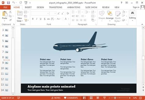 Animated Airport And Travel Powerpoint Templates Airport Ppt Template Free