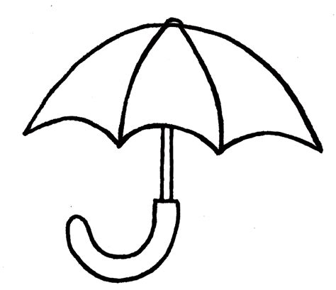 umbrella template coloring home