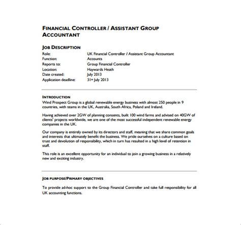 Accounting Controller Sle Resume by Financial Controller Resume Pdf 28 Images Sle Financial Controller Resume Finance Resume