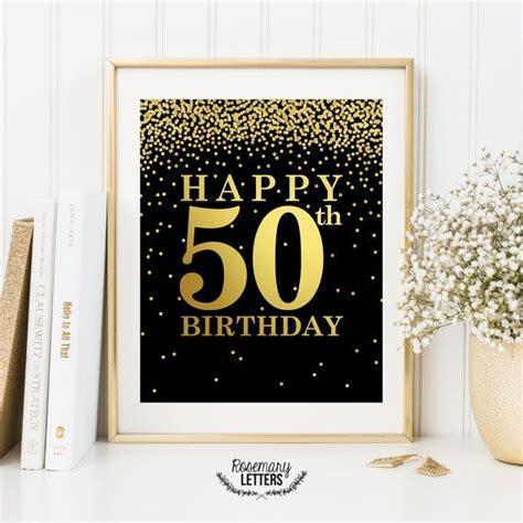 printable 50th birthday party decorations happy 50th birthday printable 50th birthday decor 50th