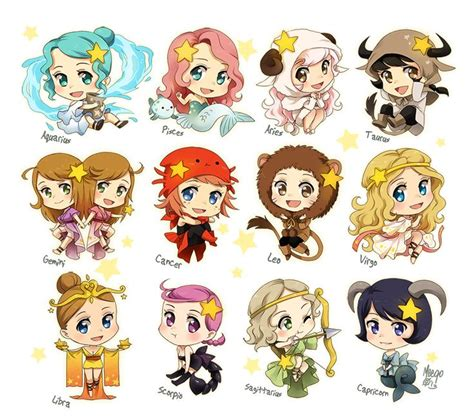 Anime Zodiac Signs by Just Another Zodiac Set By Meago On Deviantart Tattoos