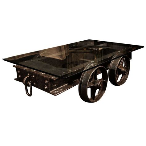 Rail Cart Coffee Table Railroad Cart At 1stdibs