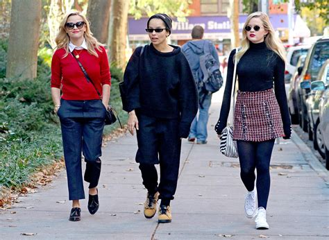 zoe kravitz sunglasses big little lies reese witherspoon and ava phillippe have lunch with zoe