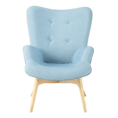 Blue Armchair by Fabric Vintage Armchair In Blue Iceberg Maisons Du Monde