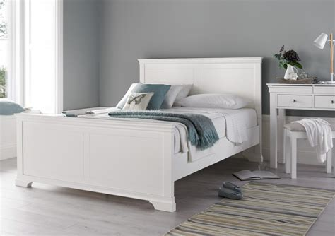 Wooden Bed Frames Uk Chateaux White Wooden Bed Frame Painted Wood Wooden