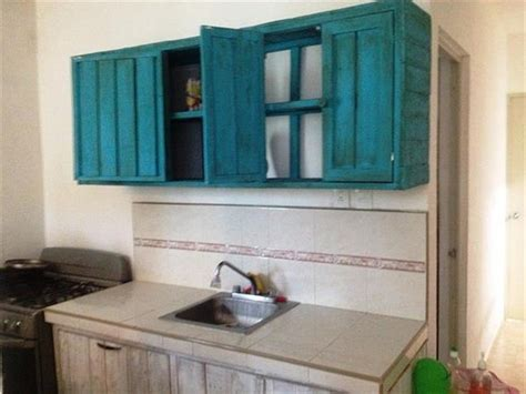 hanging kitchen cabinets on wall kitchen cabinets made from pallets pallet wood projects