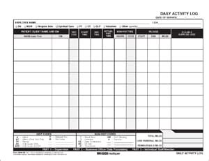 5 Daily Activity Log Templates Formats Exles In Word Excel Free Daily Activity Log Template