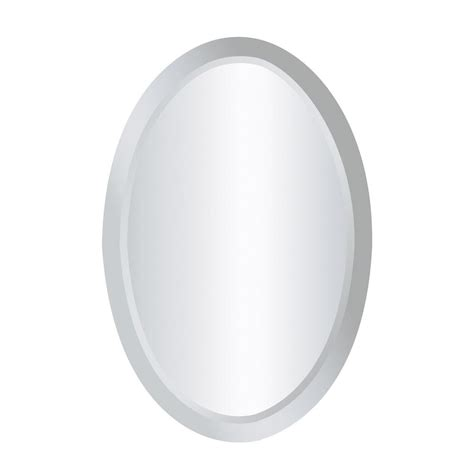 titan lighting chardron 24 in x 16 in oval mirror glass