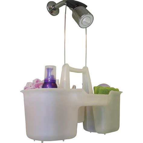 hanging shower caddy and bath tote in shower caddies