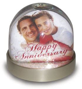 personalised celebration snow globe dome a1 personalised