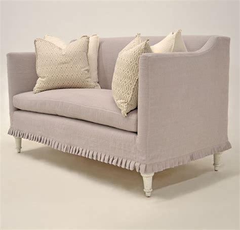 Decorative Loveseat Quatrine Custom Furniture Antoinette Loveseat Slipcover