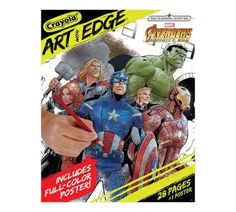 crayola art  edge marvel avengers coloring pages
